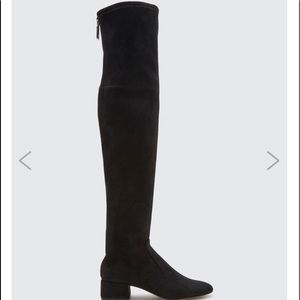 DOLCE VITA Black Stella Suede over the knee boots